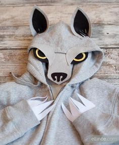 DIY Tutorial: DIY Animal Costume / DIY Halloween Wolf Hoodie Costume - Bead&Cord