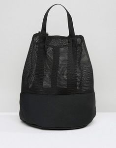 Shop ASOS LIFESTYLE Mesh and Scuba Backpack. With a variety of delivery, payment and return options available, shopping with ASOS is easy and secure. Shop with ASOS today. Mesh Backpack, Backpack Bags, Leather Backpack, Asos, Diy Tote Bag, Net Bag, Designer Backpacks, Fashion Bags, Fashion Trends