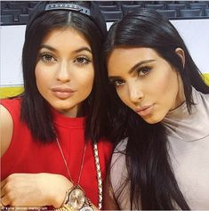 Birthday treat: Kim, 34, also invited her sister Kylie Jenner, 17, along to the party, who...