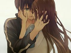 """Yato x Hiyori (I ship it, but it hurts. Because once she dies, he'll keep living. I used to think """"Oh, he can just turn her into a Shinki."""" Then I learned about the god's curse. Now my heart is broken.)"""