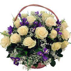 Rosen Arrangements, Basket Flower Arrangements, Floral Arrangements, Good Morning Cards, How To Wrap Flowers, Pin Up Art, Something Beautiful, Vases Decor, Ikebana