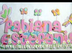 Resultado de imagen para nombres con foami Foam Crafts, Wooden Letters, Banner, Birthday Cake, Baby Shower, Prints, 1, Medium, Tips