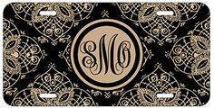 Personalized Monogrammed Royal Romance Floral Black Beige Car License Plate Auto Tag Top Craft Case http://www.amazon.com/dp/B00LOWRNNK/ref=cm_sw_r_pi_dp_stitub01P5SMM