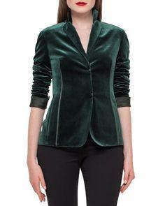 Imagine Velvet Jacket, Goodwood Hunter by Akris at Bergdorf Goodman.