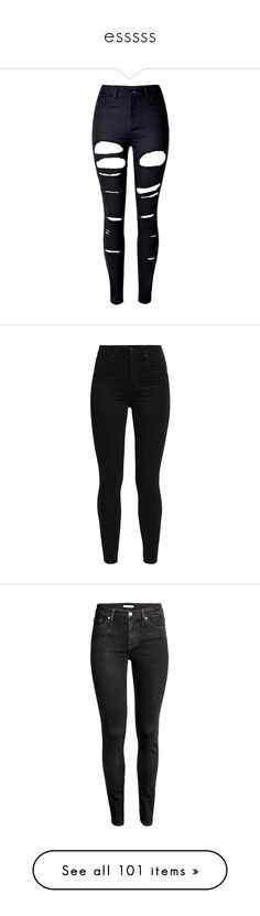 """""""esssss"""" by xoxominyeol ❤ liked on Polyvore featuring jeans, pants, bottoms, calças, distressed jeans, high waisted stretch skinny jeans, stretch jeans, high waisted skinny jeans, denim skinny jeans and skinny fit jeans"""