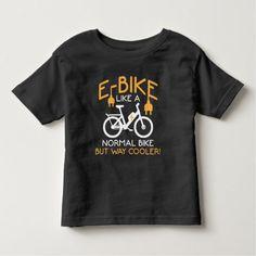 E-Bike Cycling Way Cooler Bike Funny Electric Bike Toddler T-shirt Hockey Gifts, Bike Shirts, Electric Bicycle, Cool Bikes, Cycling, Funny, Mens Tops, T Shirt, Shopping