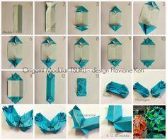 Terapia do Papel: FOTO-TUTORIAL Origami Modular TSURU - curiosidades - design Flaviane Koti