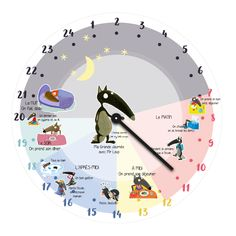 L'horloge Journée en un exemplaire pour ma petite Louloute avec les illustrations du Loup d'Eléonore Thuillier - Orianne Lallemand French Education, Kids Education, Special Education, Craft Activities For Kids, Preschool Crafts, School Hacks, Learn French, Pre School, Kids And Parenting