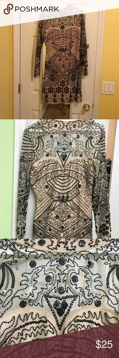 BooHoo dress BooHoo fancy sequined dress! Perfect for party, date night or semi formal event! Cleaning my closet. Brand new, never worn. Boohoo Dresses Mini