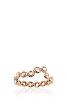 18K Rose Gold Diamond Heartbeat Ring by Lito (=)