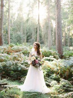 Scottish Woodland Bride | Scotland Wedding Photographers | Forest wedding inspiration | Orange Photographie