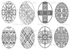 Pysanky Eggs for Pascha; Ukranian Easter Eggs fabric - rengal ...
