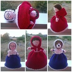 My pattern for a red riding hood themed topsy turvy doll, now live on ravelry, etsy and craftsy! super chuffed with how she came out! x