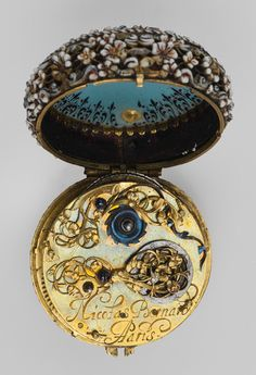 Watch, ca. 1650 Movement by Nicolas Bernard (French, recorded 1636-70) Case: enameled gold; Dial: enameled gold, with a single gilded brass hand; Movement: gilded brass and steel, partly blued Metropolitan Museum of Art