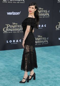 @SofiaCarson arrives at the premiere of Disney's 'Pirates Of The Caribbean: Dead Men Tell No Tales' at Dolby Theatre on May 18, 2017.