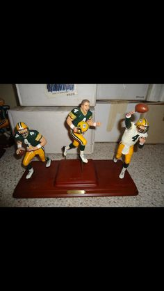 Brett Favre 3 Figure Set Danbury Mint, Packers, The Man, Man Cave, Action Figures, Nfl, Sports, Things To Sell, Hs Sports