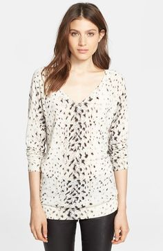Free shipping and returns on Joie 'Brooklyn' Sweater at Nordstrom.com. A soft, stretch-kissed sweater ribbed at the V-neck, cuffs and hem is updated by animal spots that guide the eye along the silhouette.