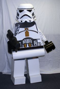 Lego Star Wars costume- I WISH I was THIS talented for my son!!