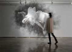 Ephemeral Portraits Cut from Layers of Wire Mesh by Seung Mo Park http://www.seungmopark.com/