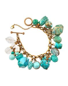 Turquoise and Amazonite Toggle Bracelet by Stephen Dweck at Last Call by Neiman Marcus.