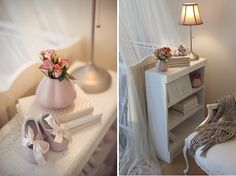 Place the bookcase against the crib end. Nice way to save space in nursery.