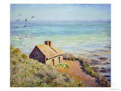 The Customs Hut, Morning, 1882 Kunst van Claude Monet bij AllPosters.nl