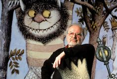 "Where the Wild Things Aren't: A Sendak Museum - The New York Times Maurice Sendak standing with a scene from his book ""Where the Wild Things Are,"" at the Children's Museum of Manhattan in 2002."
