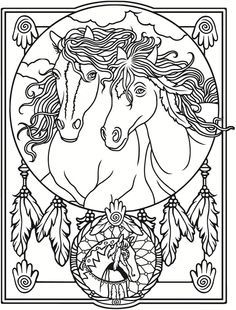 Welcome to Dover Publications / Creative Haven Wild Horses Stained Glass Coloring Book / Marty Noble Dover Coloring Pages, Horse Coloring Pages, Pattern Coloring Pages, Coloring Pages To Print, Printable Coloring Pages, Adult Coloring Pages, Coloring Sheets, Coloring Books, Dover Publications