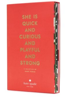 """kate spade short story collection - love """"go in peace, not in pieces"""" thx for another great story, LB!"""