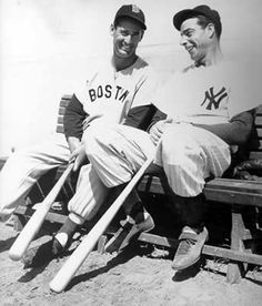 The Splendid Splinter and The Yankee Clipper. Great is great, no matter where you are from!