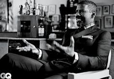 The Man. Denzel Washington. Photos by Nathaniel Goldberg