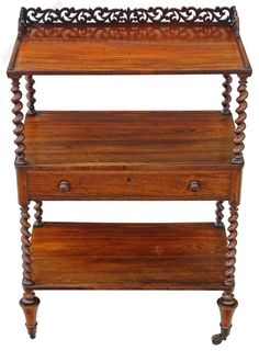 Antique quality William IV rosewood dumb waiter buffet serving table An attractive piece of quality furniture. Antique Furniture, Furniture Decor, Outdoor Furniture, Outdoor Decor, Dumb Waiter, Antique Buffet, Serving Table, For Lash, Empire Style