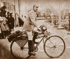 "Photo of Franz Lenz on his ill-fated round-the-world cycle trip ""God help the unfortunate cycler who crosses China…""  After close to eight months of biking across China from Shanghai to the Burmese border in 1892/3 (during which time he was stoned, beaten, robbed, and forced to walk most of the way since the roads weren't bike-ready), Frank Lenz summed up his trip in a letter home: ""God help the unfortunate cycler or traveller who crosses China. I could never do ..."