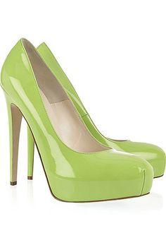 zapatos de moda verde