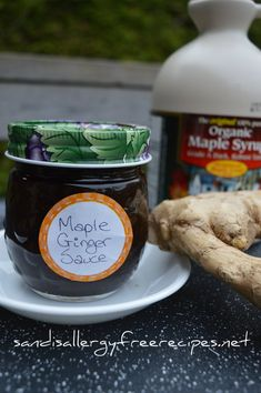 Maple Ginger Sauce (Refined Sugar Free/ Dairy Free/ Vegan/ Paleo/ Gluten Free/ Soy Free Option)