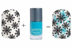 Jamberry's Silent Snow layered over our nail lacquer - the color possibilities are endless! www.kellijoy.jamberry.com