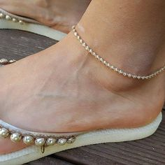 Sterling Silver Anklet with Twisted Diamond Cut by CristalPassions