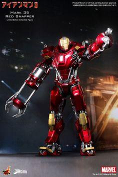 パワー・ポーズ アイアンマン3 1/6スケール限定可動フィギュア アイアンマン・マーク35(レッド・スナッパー) 単品[ホットトイズ]《12月仮予約》
