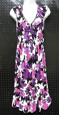 American Living Ralph Lauren Floral Sun Dress Blue Green Yellow Size 6  B234