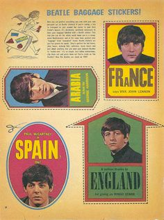 Beatle Baggage Stickers