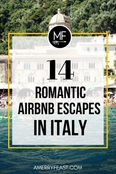 Romantic getaways in Italy. Travel vicariously with us & Airbnb! Here is our roundup of 14 unique Airbnb vacation rentals in Italy for anyone dreaming of romantic escape with their sweetheart. www.amerryfeast.com