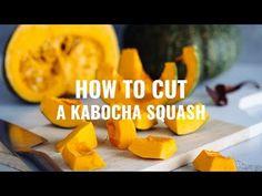 How to Cut a Kabocha Squash (Japanese Pumpkin) かぼちゃの切り方 - YouTube