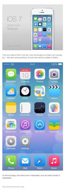 ios7 vector icon redesign on behance  #ios7 #nikhil #iphone #behace #icons #vector