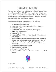 Worksheets Earthquakes For Kids Worksheets activities a project and student on pinterest earthquake printables kids activity survival kit