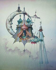 An artist's magical dream