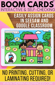 End the year with these fun kindergarten activities! These activities will help your students practice important skills with fun summer themes. Each deck has 25-30 self-checking cards. Use these for literacy and math centers, homework, morning work, or for distance learning.  Audio directions are included on each card. Audio picture names are included for ELA pictures.