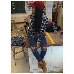 """Find and save images from the """"dope outfits😭❤️"""" collection by What's The Sitch? Dope Outfits, Casual Outfits, Fashion Outfits, Womens Fashion, Fall Winter Outfits, Winter Fashion, Looks Style, My Style, Rocker"""