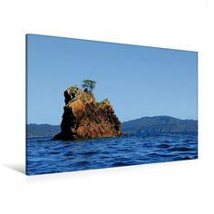Felsformation in der Mercury Bay (Premium Foto-Leinwand 45x30 cm, 75x50 cm, 90x60 cm, 90x60 cm)