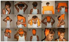 Pineapple hair to retain a style -- especially a twist out or braid out :)
