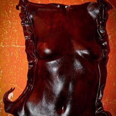 Leather mask/statue from Skhumba craft in South Africa -- just stunning!